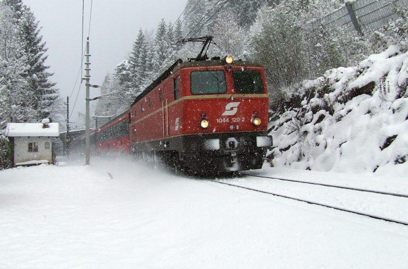 Wintereinbruch auf der Arlbergbahn