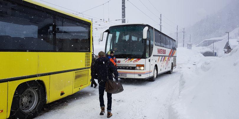 Lawinengefahr: Sperre der Arlbergbahn